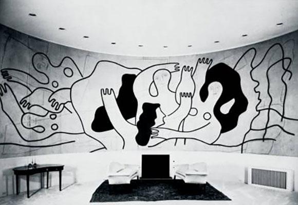 Fernand Léger Malerei im Raum Museum Ludwig