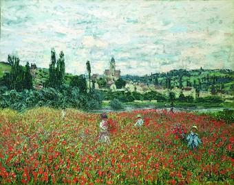 Claude Monet, Mohnblumenfeld bei Vétheuil um 1879, Stiftung Sammlung Bührle