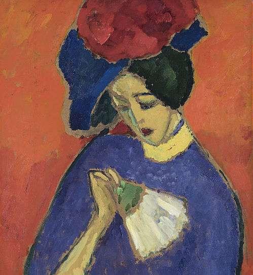 """Alexej von Jawlensky, """"Dame mit Fächer"""", 1909."""